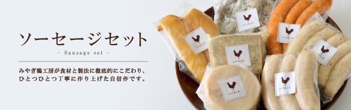 みやぎ森林鶏・ソーセージセット